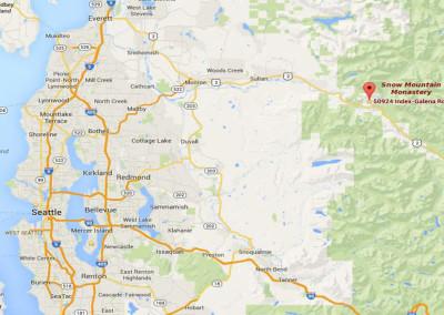 Map to Snow Mountain Monastery