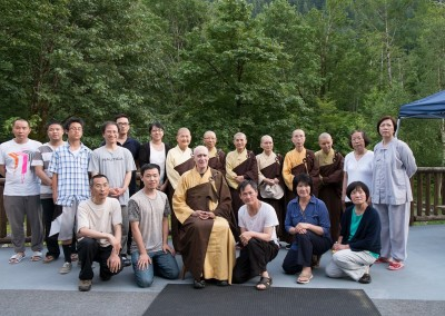 Dharma Masters from CTTB and Calgary disciples attending Amitabha Session - Summer 2013