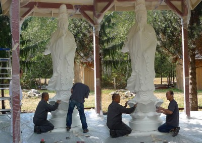 Restoration and repaint of Gwan Shr Yin Bodhisattva statue - end of summer 2015