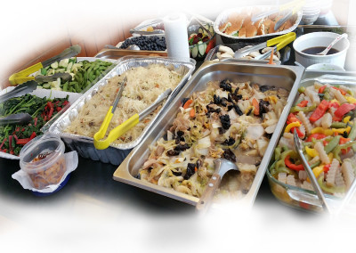 Classic, simple, yet healthy vegetarian buffet of kind eating nurturing all hearts
