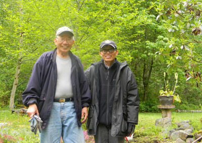 Gardening and friendship ~ (left to right) Kwo Kwang and friend