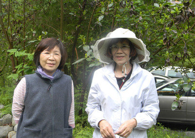 Gardening and friendship ~ (left to right) Tina and Friend