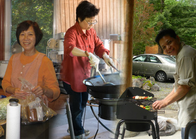 (left to right) Sue, Nhi, and Tom ~ 'most wanted chefs'