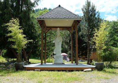 Camping behind Gwan Shr Yin Bodhisattva ~ Summer 2013