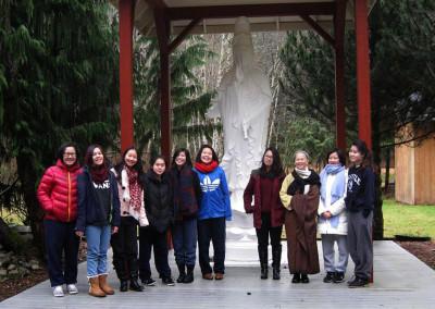 Dharma Master Heng Dzu and the City of Ten Thousand Buddhas Virtue Instilling Girls School ~ Dec 25, 2014