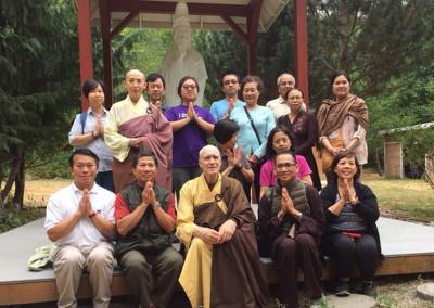 Dharma Master Heng You and Portland disciples Visit - July 2015