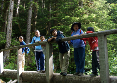 Log bridge over Braclay Creek