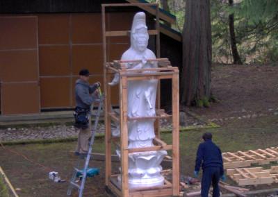 Moving Gwan Shr Yin Bodhisattva to new home - April 2011