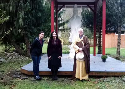 (left to right) Jetti Testu and Angela Justice visited Dharma Master Heng Lai - 2014