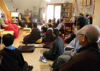 Dharma Talk ~ inside the Main House