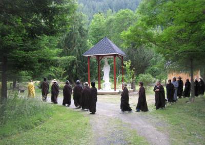 Circumambulating Gwan Yin Bodhisattva ~ 2014 Session